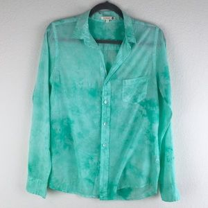 Anthropologie Sundry TieDye Button Up Shirt